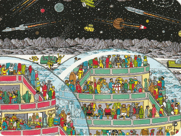 Where's Wally Postcard (BWP05) - In Space