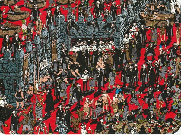 Where's Wally Postcard (BWP06) - The Nasty Nasties