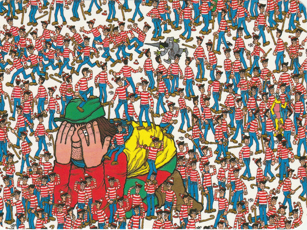 Where's Wally Postcard (BWP08) - The Land of Wallies