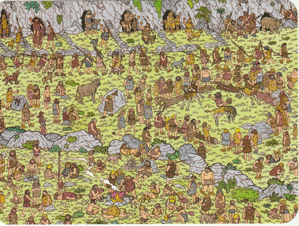 Where's Wally Postcard (OWP10) - The Stone Age