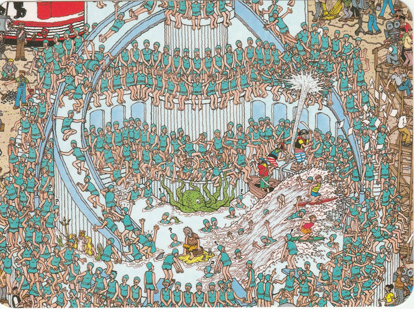 Where's Wally Postcard (OWP14) - Tremendous Song and Dance