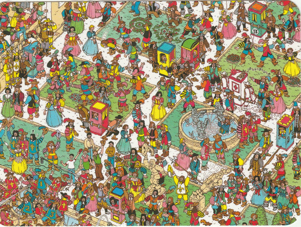 Where's Wally Postcard (OWP15) - The Swashbuckling Musketeers