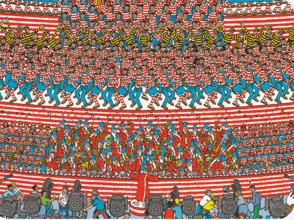 Where's Wally Postcard (OWP17) - Where's Wally The Musical
