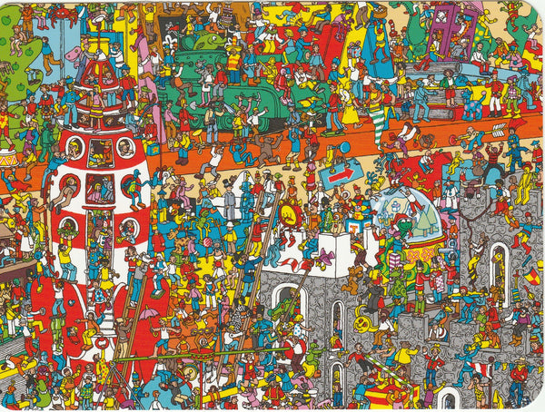 Where's Wally Postcard (OWP18) - Toys Toys Toys