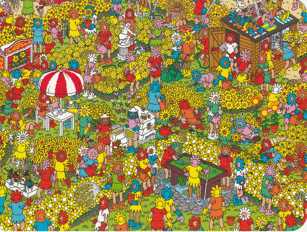 Where's Wally Postcard (OWP19) - The Fantastic Flower Garden