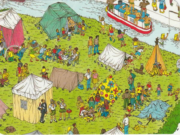 Where's Wally Postcard (OWP01) - Camp Site