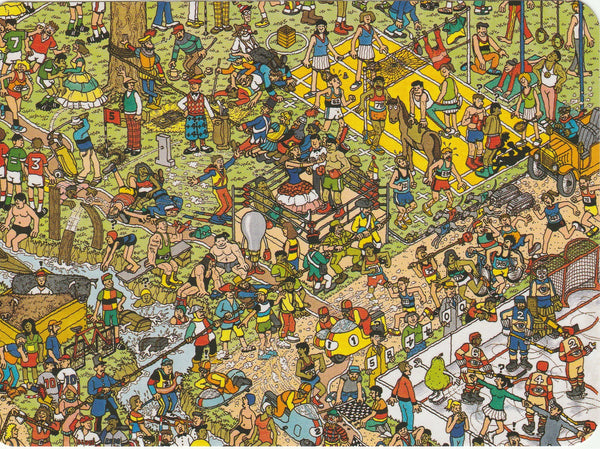 Where's Wally Postcard (OWP21) - A Sporting Life