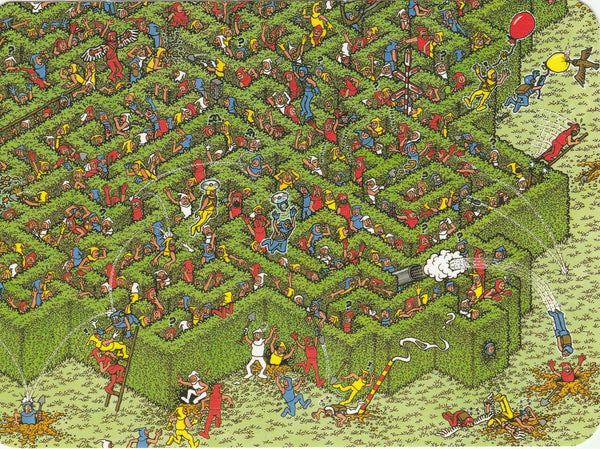 Where's Wally Postcard (OWP23) - The Great Escape