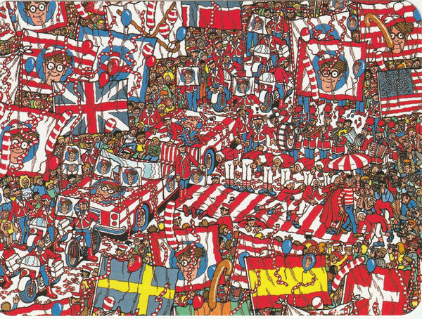 Where's Wally Postcard (OWP24) - The Enormous Party