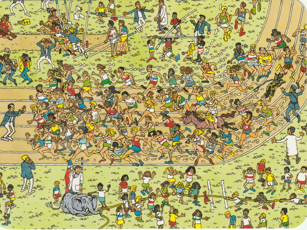 Where's Wally Postcard (OWP05) - Sports Stadium