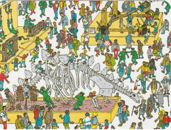 Where's Wally Postcard (OWP06) - Museum
