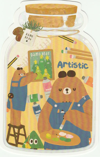 Bear in a Bottle Postcard Collection - Artistic