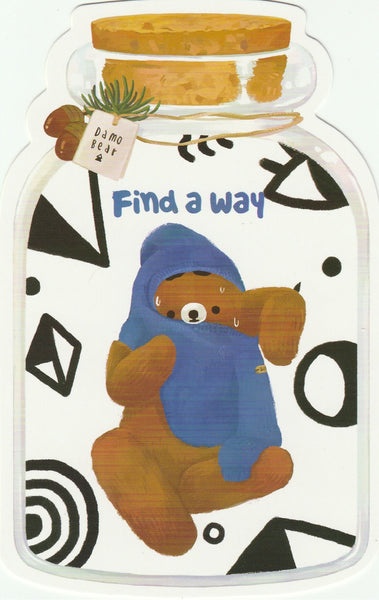 Bear in a Bottle Postcard Collection - Find a way