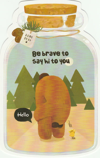 Bear in a Bottle Postcard Collection - Be brave to say hi to you