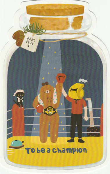 Bear in a Bottle Postcard Collection - To be a Champion