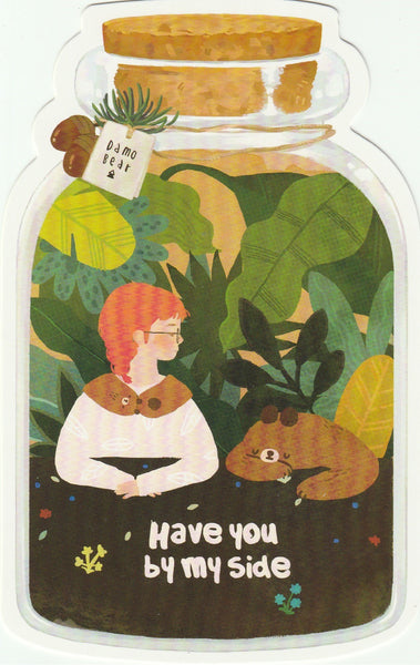 Bear in a Bottle Postcard Collection - Have you by my side