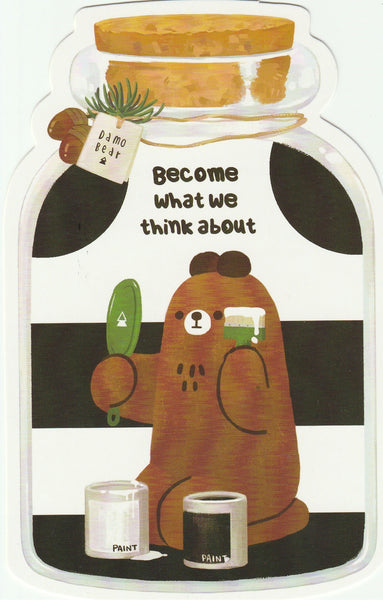 Bear in a Bottle Postcard Collection - Become what we think about