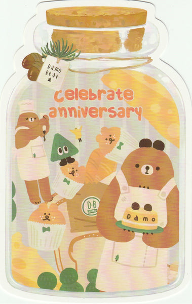 Bear in a Bottle Postcard Collection - Celebrate Anniversary