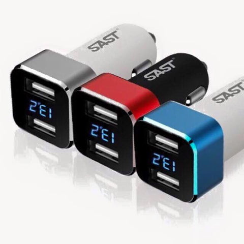 Digital Car Voltage Display USB Charger - Just Shop.Sg