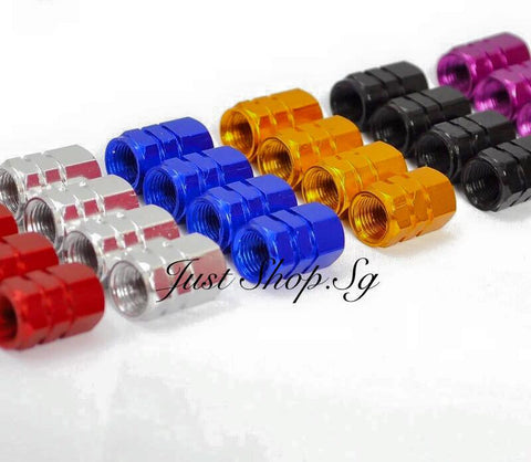 Chrome Colour Tyre Cap - Just Shop.Sg