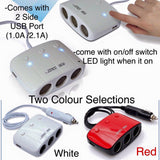SAST Car Splitter with LED Switch - Just Shop.Sg