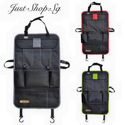 Car Rear Seat Organiser with tablet holding pocket - Just Shop.Sg