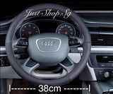 Bull Skin Leather Steering Wheel Cover - Just Shop.Sg