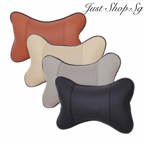 Car Headrest Support Half Leather Cover - Just Shop.Sg
