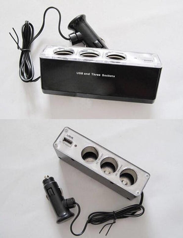3 Way Car 12V socket Splitter - Just Shop.Sg