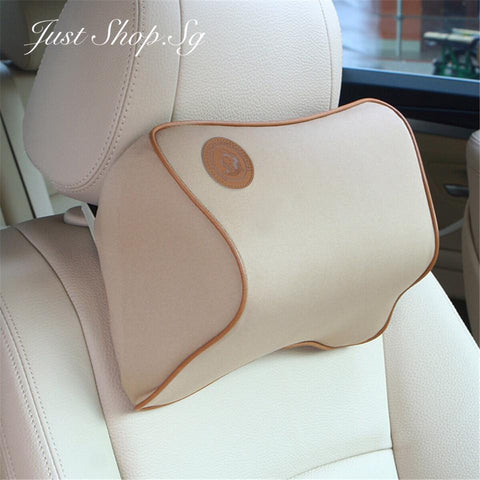 Chiropractic Car Headrest (Latte) - Just Shop.Sg