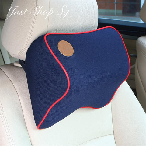 Chiropractic Car Headrest (Blue) - Just Shop.Sg
