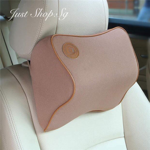 Chiropractic Car Headrest (Coffee) - Just Shop.Sg