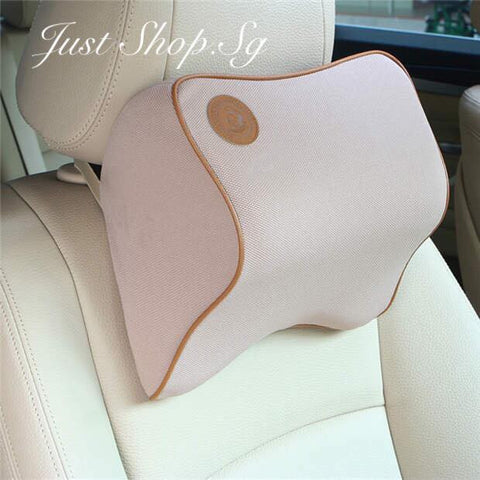 Chiropractic Car Headrest (Beige) - Just Shop.Sg