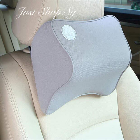 Chiropractic Car Headrest (Grey) - Just Shop.Sg