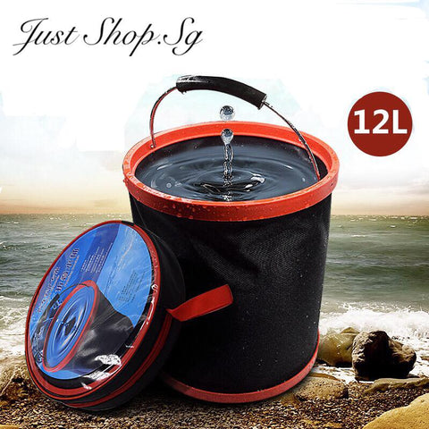 12L Car Foldable Bucket - Just Shop.Sg