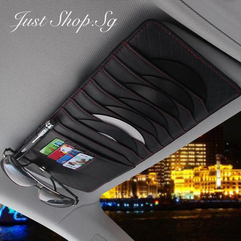 Car Leather CD and Cards Organiser - Just Shop.Sg