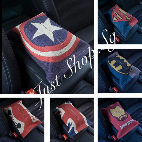 Super Hero Tissue Pack Cover - Just Shop.Sg