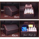 Car Leather Boot Storage Box - Just Shop.Sg