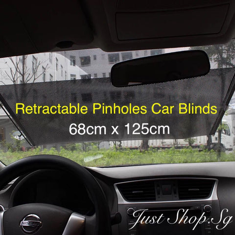 Retractable Pinholes Car Blind - Just Shop.Sg