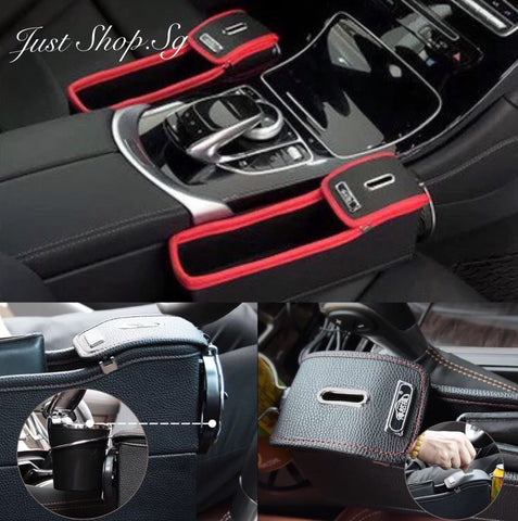 Leather Car Seat Side Holder - Just Shop.Sg
