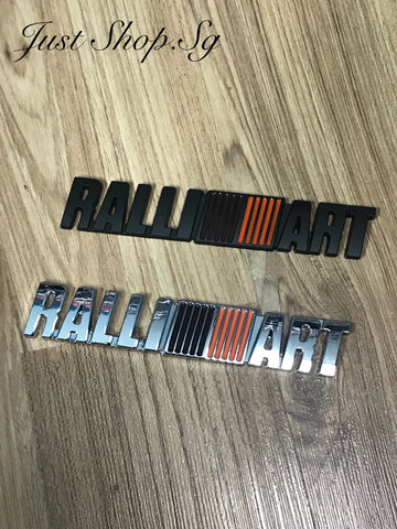 Ralliart Rear Emblem - Just Shop.Sg