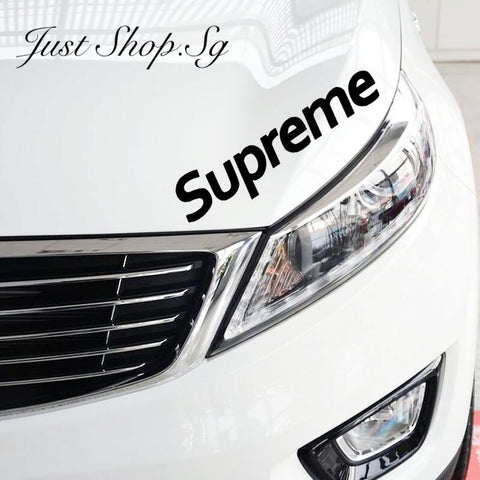 Supreme Car Sticker - Just Shop.Sg