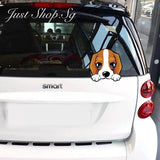 Hiding Puppy Car Sticker / Decal - Just Shop.Sg