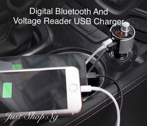 4 in 1 Digital Bluetooth Voltage Reader And USB Charger - Just Shop.Sg