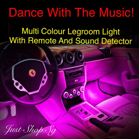 Multi Colour Car Legroom Light (With Remote And Music Detector) - Just Shop.Sg