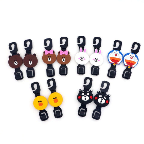 Car Rear Seat Hook/ Hanger (Line Friend and Doraemon) - Just Shop.Sg