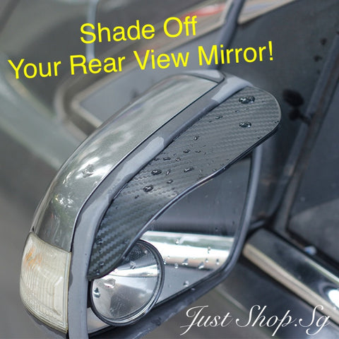 Carbon Fibre Side Mirror Shade - Just Shop.Sg