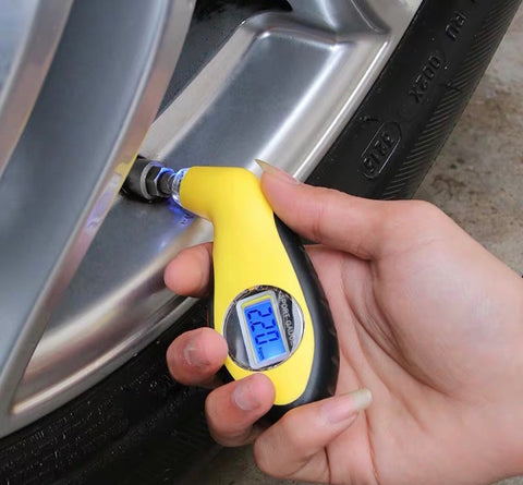 Mini Sport Car Digital Tyre Gauge - Just Shop.Sg