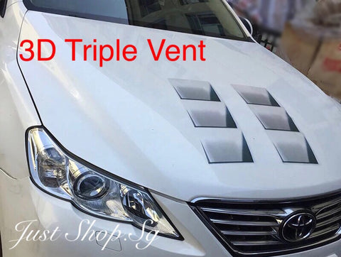 3D Triple Vent - Just Shop.Sg