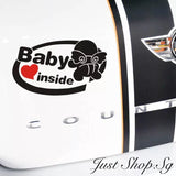 Cupid Baby Inside Car Decal / Sticker - Just Shop.Sg
